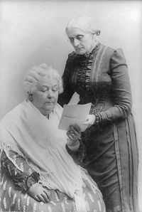 Susan B Anthony and Elizabeth Cady Stanton