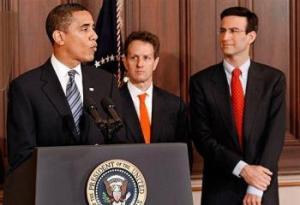 Los Tres Amigos: Obama, Geithner, Orzag