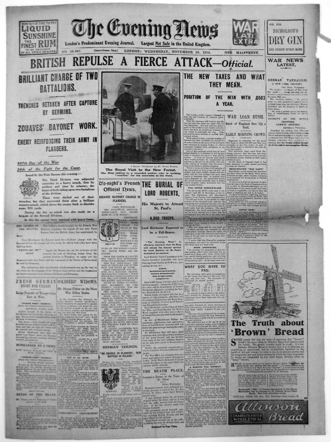 Evening News November 18th, 1914