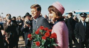 John and Jackie Kennedy on November 22, 1963