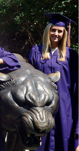 emily at graduation LSU 2012