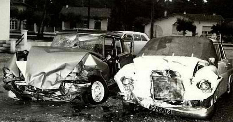 Photo of Vilnet's and Romney's cars after the crash