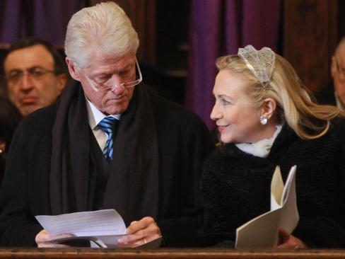 Bill Clinton Hillary Clinton 2012 Sky Dancing