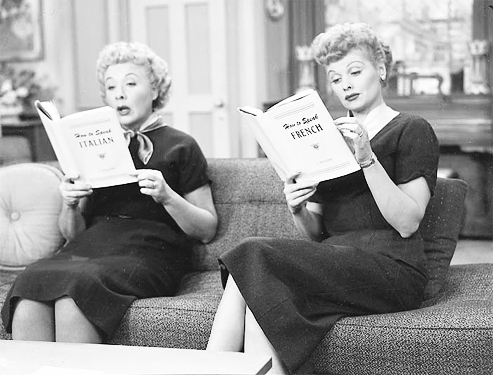 Lucy And Ethel Reading Sky Dancing