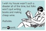 cheap wine and books