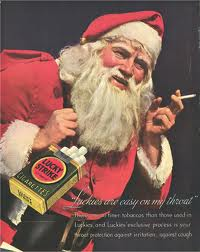 Smoking Santa...who would want to light up after a long night delivering gifts, right?