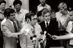 Brian Murtagh (with glasses) in 1979