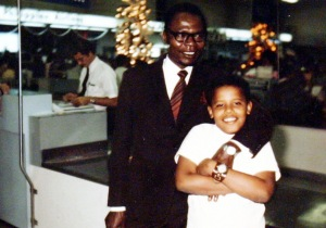 Obama with dad