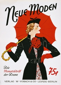 Vintage advertisement for umbrellas.
