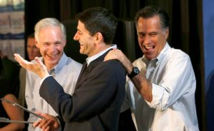 Sen. Ron Johnson, fellow Wisconsin Republican Paul Ryan, and some other guy