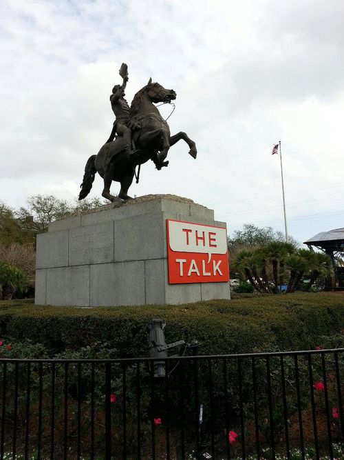 The Talk defaces public property