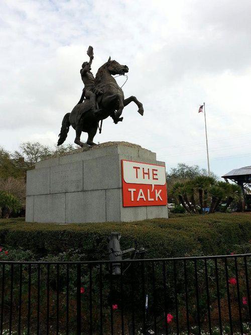 The Talk defaces public property