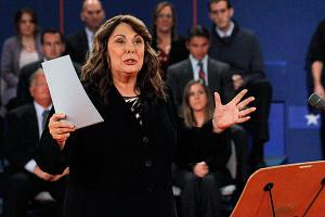 Candy Crowley moderating presidential debate
