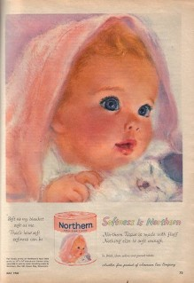 Pretty baby in this vintage ad...