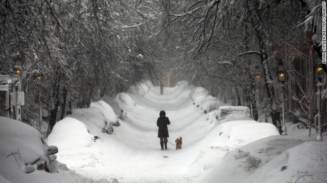 Beacon Hill, Boston, morning of Feb. 9, 2013.