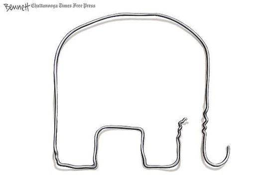 elephant coat hanger