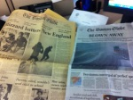 Globe front page, blizzard '78 vs '13. Photog David L. Ryan -- shared on Moby Picture by Maria Sacchetti
