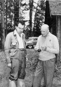 Ike and Dick fishing at Camp David