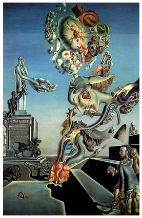 Lugubrious Game, by Salvador Dali, 1929
