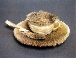 Meret Oppenheim fur lined tea cup
