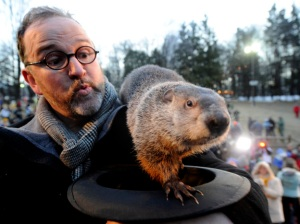 Punxsutawney Phil and friend