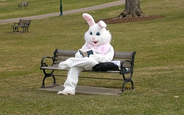 easter-bunny reading