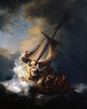 "Rembrandt's ""Storm on the Sea of Galilee,"" stolen from the Gardner Museum"