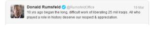 Rumsfeld tweet
