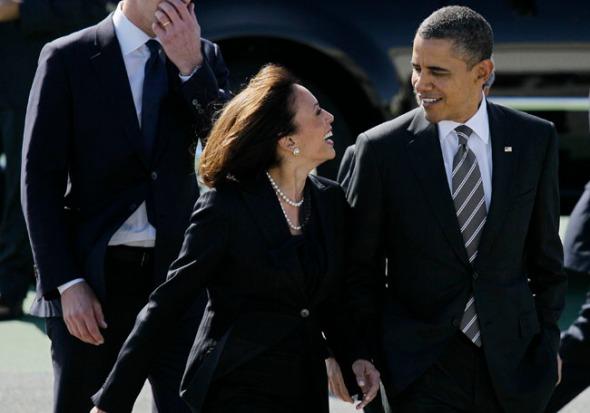 Barack Obama, Kamala Harris, Gavin Newsom
