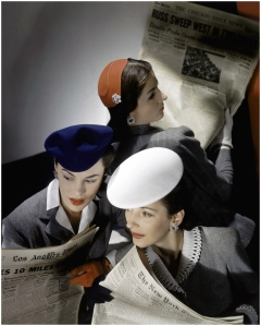 horst-p-horst-models-wearing-hats-and-reading-newspapers-1943-ca-xl