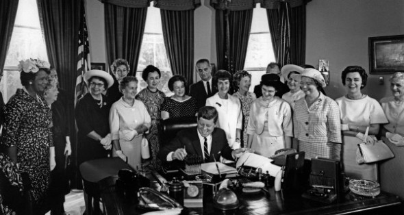 John F. Kennedy signs the Equal Pay Act of 1963