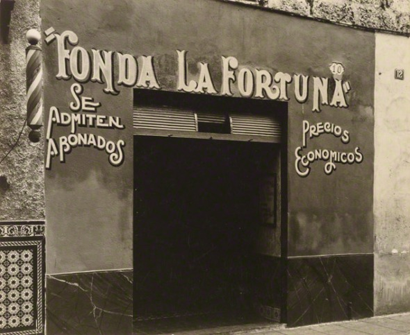 Restaurant in Havana, note the Albinos allowed sign.