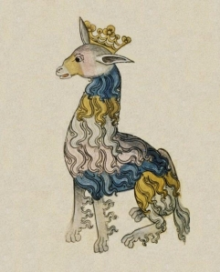 Artwork from one of King Henry VIII book of animal illustrations.