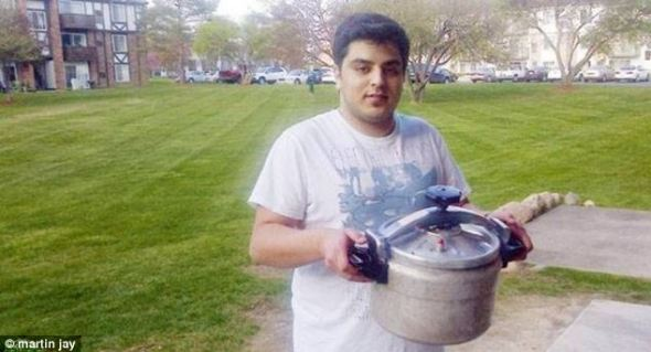 Talal al Rouki with the pressure cooker of doom!