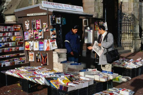 Newsstand in Copley Square, Boston