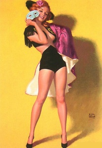 Earl Moran Pin Up artist, model Marilyn Monroe