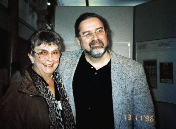 Margaret Groening and son Matt in 1996
