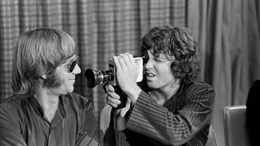 Ray Manzarek with Jim Morrison