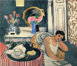 Matisse-Woman-Reading-with-Tea1