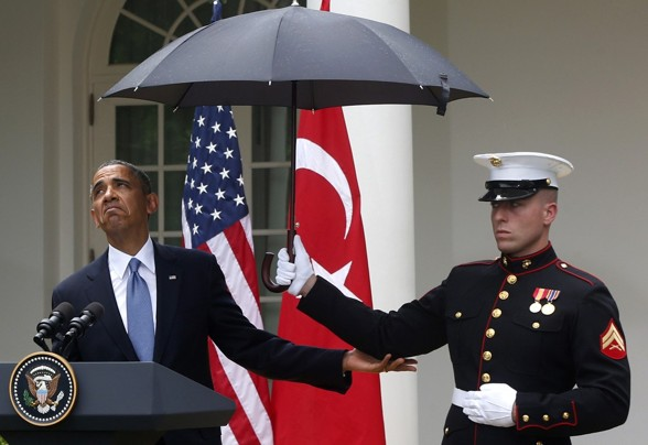 Obama umbrella scandal