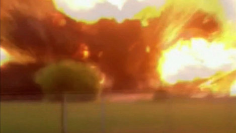 The instant of the West, TX explosion captured in a video posted on YouTube on April 17, 2013.