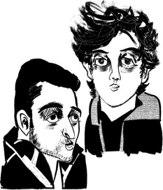 Tamerlan and Dzhokhar Tsarnaev (drawing from The New Yorker)
