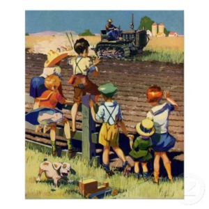 vintage_children_waving_to_local_farmer_on_tractor_poster-re4dbd0d6dc8a42e9ba47fa76364fd4fa_az0bt_8byvr_512