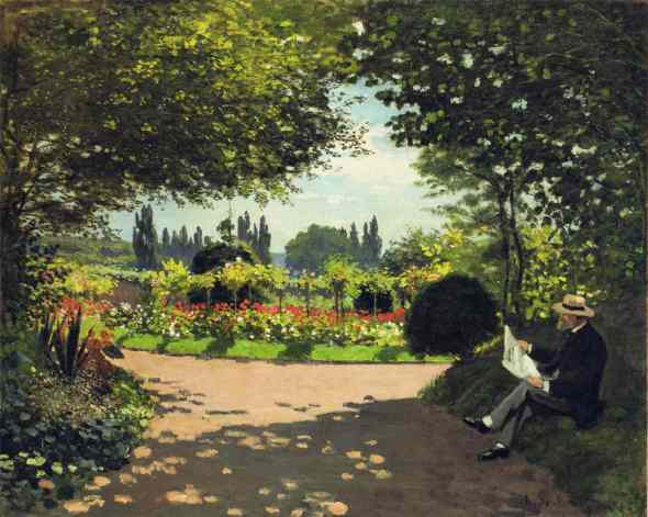 adolphe-monet-reading-in-the-garden(1)