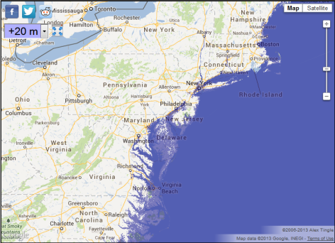 Global Sea Level Rise Map - Global Warming & Climate Change Impact 2013-07-23 19-00-17