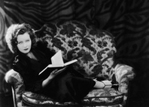 greta garbo reading