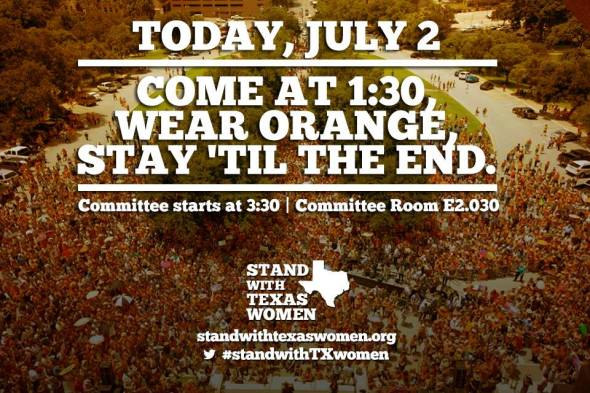 Stand with tx women