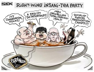 CARTOON INSANI-TEA PARTY