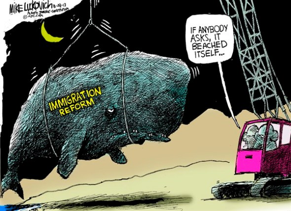 Immigration Reform, by Mike Lukovich