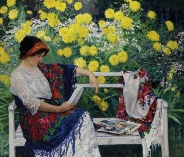 reading-in-the-garden Nikolay Bodanov Belsky